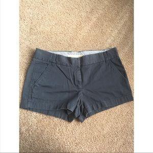 J. Crew weathered twill chino shorts blue, size 8